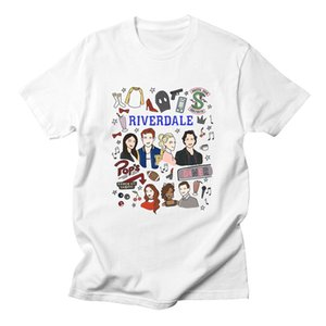 Wholesale Riverdale Women Letter Print T Shirts Short Sleeve Fashion Casual South Side Serpents Harajuku High Quality Women Tshirt