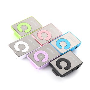 Wholesale Students use Mini Clip MP3 Player without Screen Support Micro TF SD Card GB Sport Style MP3 Metal MP4 Players DHL