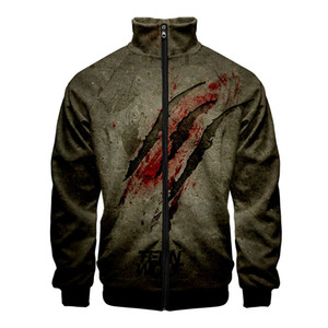 Wholesale United States Tv Series Teen Wolf D Style Slim Fit Windbreaker Men Slim Fit Zipper Fashion Trend Casual Jacket Windbreaker