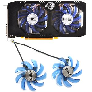 Wholesale Original 85mm FDC10U12S9-C 4PIN For HIS RX470 GPU Cooler fan for HIS RX 470 Turbo 4GB RX 470 OC 4GB RX474 RX570 video card fan