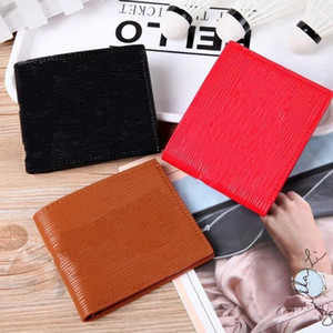 Men Letter Printing Purse Sup Brand Bag Outdoor Shopping Women Wallet Simulation Leather Red Brown Practical 17 8bl C1