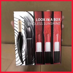 Wholesale 2019 New Famous brand lip makeup Look in a box Endless sunshine lipstick eyeliner set in makeup sets