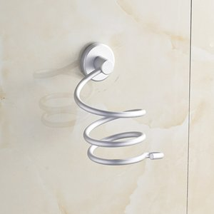 Wholesale Chrome Finish Wall Mounted Hair Dryer Stand Hotel Bathroom Shelves Shelf Storage Hairdryer Rack Holder Hanger SEP
