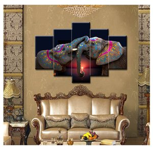 Wholesale 5D Diy Full Square Diamond Painting Elephant family Multi picture diamond Embroidery Cross Stitch Wedding decoration ZP