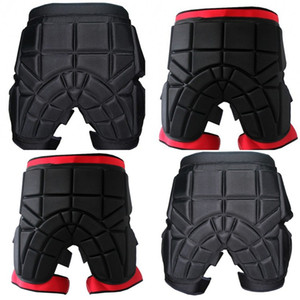 Wholesale Man Women Skiing Hip Pad Skating Veneer Double Board Buttock Protection Black Red Outdoor Simple Practical Hockey Pants srD1