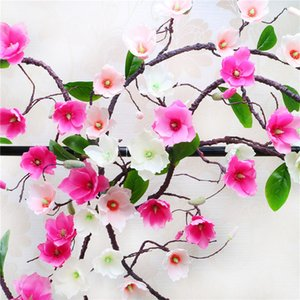 vine tree branches latex orchid wall flower wreath artificial Magnolia flowers Rattan silk flowers vine wedding decoration vine