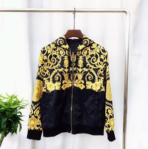 Wholesale brand new men's autumn and winter new coat fashion Harajuku casual half-length totem hooded jacket Men's Medusa black gold fancy 3
