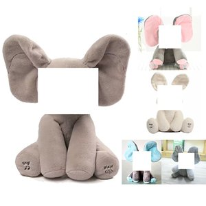 Wholesale Peek A Boo Electric Elephant Animals Plush Stuffed Music Doll Rabbit Elephant Interactive Toy For Children Baby SH190913