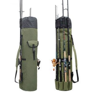 Outdoor Portable Multifunction Nylon Fish Bags Fishing Rod Bag Case Fishing Tackle Tools Storage Bag