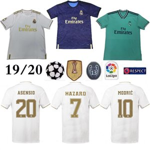 Real Madrid home #7 HAZARD Soccer Jersey 2019 Thai Top quality MODRIC Marcelo Man Football shirt BALE ASENSIO Third Kit soccer jersey on Sale