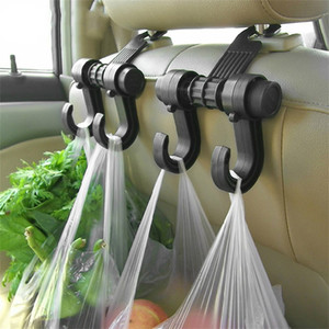 Wholesale Car Seat Back Headrest Dual Hook Holder Plastic Hanger Fit For Bag Purse Cloth