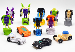 Wholesale 12 Styles Super Mini Morphing Sports Car cm Changeable Front Car Back Robot Toys Twister Egg Assembly Toys L307