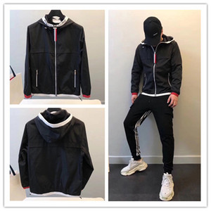 Wholesale 2020 New men Clothing Fashion contrast Parka Jacket Windproof Outdoor Men Coat Street Casual Sport Outwear Jacket top quality