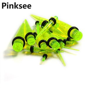 сужающийся комплект оптовых-Hot Spike Ear PLUG Kit Gauges Taper Expander Set Stretchers piercing Punk Women Men Earrings Jewelry Drop Ship