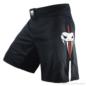 Wholesale Men's Black Blue Fight Boxing Fitness Breathable Quick Dry Pants Boxing Shorts Muaythai Shorts Tiger Muay Thai Shorts Mma Boxeo
