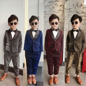 Childrens Clothing 2019 Autumn Baby Boys Gentleman Handsome 2 Pieces Set Party Performance Kids Fashion Suit on Sale
