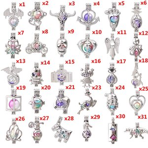 Wholesale 700 Designs Lotus Snowman Tree of Life Owl Pearl Cage Locket Lava Beads Essential Oil Pendant Diffuser Ball Necklace Charms for Making
