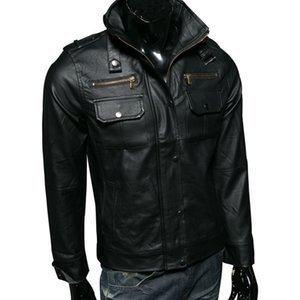Wholesale Men s fashion s Real Leather jacket Dropshipping hot sale winter Men Warm Genuine Motorcycle jackets long sleeves top coat