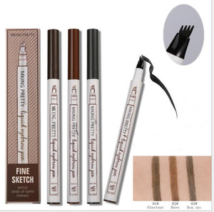 Wholesale Makeup Fine Sketch Liquid Eyebrow Pencil Waterproof Tattoo Super Durable Smudge proof Eye Brow Pen drop shipping