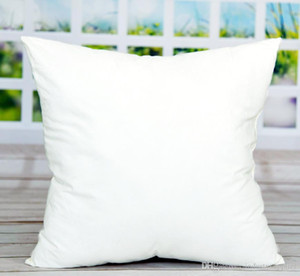 45*45cm Sublimation Square Pillowcases DIY Blank Pillowcase Pillow Cover for Heat Transfer Sofa Pillow Cases Blank White Throw Pillow A07