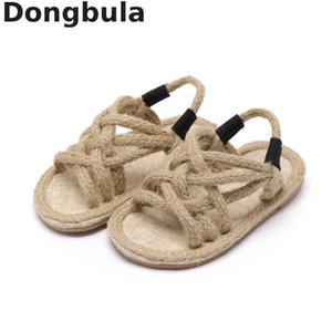 2019 Summer Children's Hemp Rope Sandals For Boys Girls Soft Bottom Roman Shoes Kids Open Toe Sandals Non-slip Baby Casual Shoes Y190525 on Sale