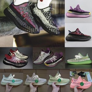Wholesale YECHEIL Citrin Cloud White Designer Kanye West Antlia Yeehu Lundmark Glow Green Black Reflective Running Shoes Trainers Sneakers Stock X
