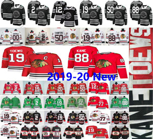Wholesale 2019-20 New Chicago Blackhawks #19 Jonathan Toews 88 Patrick Kane 12 Alex DeBrincat Clark Griswold 2 Keith 50 Crawford 77 Kirby Dach Jerseys