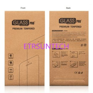 1000pcs lot Kraft paper Glass retail packaging box paper box white box for iphone 7 6 6 plus Samsung Screen Protector Film