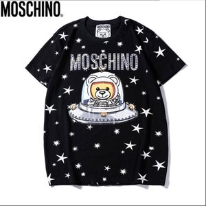 Wholesale 2019 Summer New Mos Tee Cotton Short Sleeve Breathable Men Women Moschinos Swing Bear Casual Outdoor Streetwear T shirts
