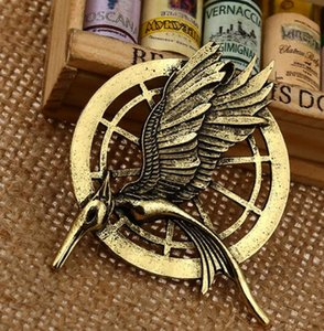 Figures Hunger Games Authentic Prop Imitation Jewelry Katniss Pin Movie The Mockingjay Pin Birds Alloys Brooch DHL Free