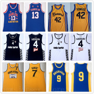 42 pelicula al por mayor-College Movie Allen Basketball Iverson Jersey Besiktas Cola Turka Scott Howard Jimmy Brooks Wilt Toni Chamberlain Kukoc