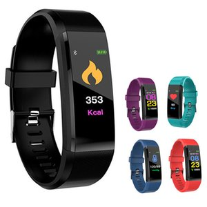 ID115 Plus Smart Bracelet Fitness Tracker Band Heart Rate Blood Pressure Monitor Smart Wristband For apple Color for iPhone Android