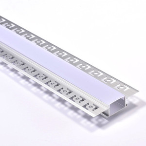 Recessed Aluminium Led Profile for inside corner Recessed wall led strip aluminium profile and 61mm wide T-shape led alu extrusion for wall