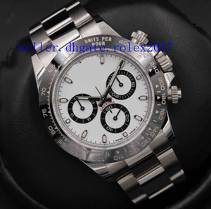 Wholesale 2019 Men s Luxury Products Quality Classic Big Cosmograph Black Ceramic White Face Automatic Movement Watch No Chronograph
