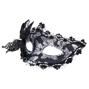 Wholesale Black Butterfly decoration Sexy Women Venetian Hollow Masquerade Eye Face Mask Party Ball Prom Halloween