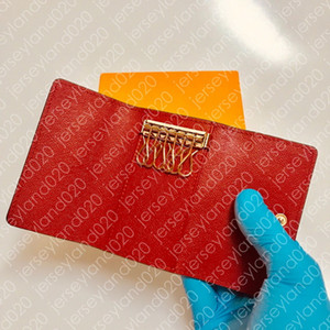 6 Six KEY HOLDER M62630 Wallet Womens Designer Fashion 4 Key Ring Case Pouch Men's Luxury Key Case Red Monogrammed Black Damier Canvas