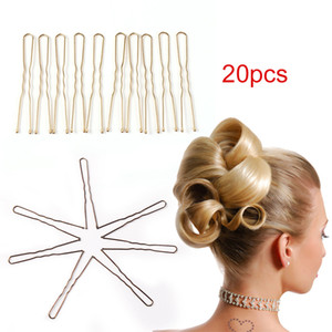 Wholesale 20PCs Set Black U Shaped Hair Pin Hair Styling Jewelry Bobby Pin Clip Metal Hairpin For Women Accessories bijoux cheveux