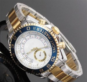 Wholesale submarine relogio masculino mens watches Luxury dress designer fashion Black Dial Calendar gold Bracelet Folding Clasp Master Male watches