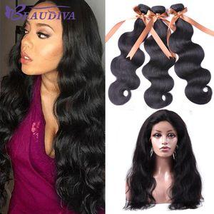 Beau Diva Body Wave Bundles With 360 Lace Frontal Human Hair Bundles With Closure Peruvian Virgin Hair Bundles With Frontal