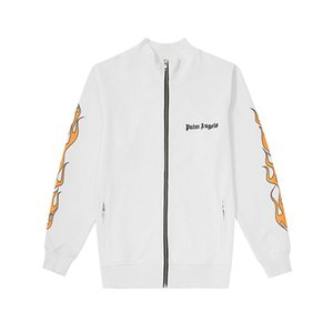 Wholesale Palm Angels Jacket for Men Brand Sportswear Flame Pattern Windbreaker Luxury Letters Embroidery Bomber Jackets Kanye West Asian Size M XL