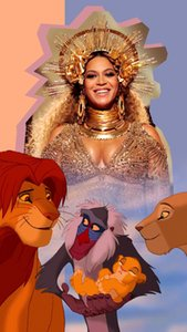 Cartoon Art Beyonce And Lions,Oil Painting Reproduction High Quality Giclee Print on Canvas Modern Home Art Decor
