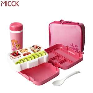 Wholesale MICCK Microwave Lunch Box For Kids Cute Cartoon Bento Box With Tableware Cup Food Container School Compartment Snack Kitchen SH190928