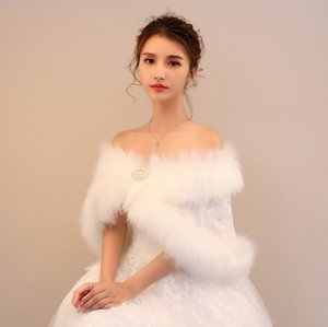 Wholesale Bride s Wedding Garment Wool Shawl Warms and Thickens White Rabbit like Wool Cape