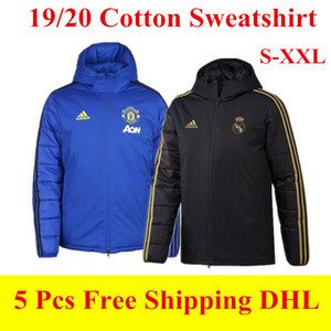 Wholesale 19 Manchester Cotton coat Down Jacket city MAHREZ hoodie soccer tracksuits Flamengo Real madrid windbreaker Man united winter Sweatshirt