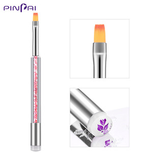 Wholesale Dual use Nail Art Brushes For UV Gel Polish Painting Liner Flowers Nail Art Stamping Transfer Pen Draw Brushes DIY Manicure Tool