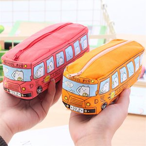 Wholesale Car Pencil Case Kids Cartoon Pencil Bag Bus Car Stationery Bag for School Boys Girls Large Capacity Pencil Bag