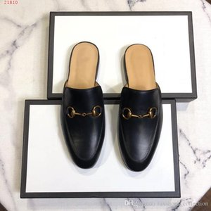 Wholesale 2019 new European and american style leather slippers international brands Genuine leather flat men shoes