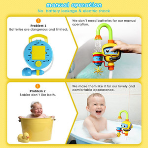 Wholesale Gift Baby Bathtub Play No Batteries Needed Durable Funny Baby Bath Toy Environmentally Kids Diver Station Pump Cute Set ABS