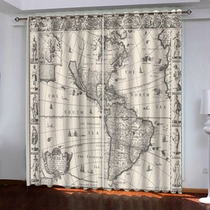 Wholesale curtains designs for living room for sale - Group buy Customized size D Curtain European D Curtains Bedroom Vintage world map design Curtains For Living Room