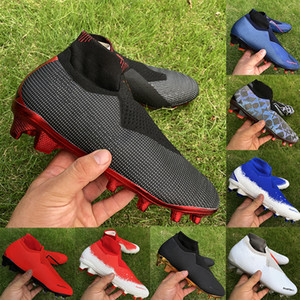 Wholesale Mens Soccer Shoes Phantom VSN Elite DF FG Football Boots black lux royal Full charged burgundy PSG Soccer Cleats sneakrs size39